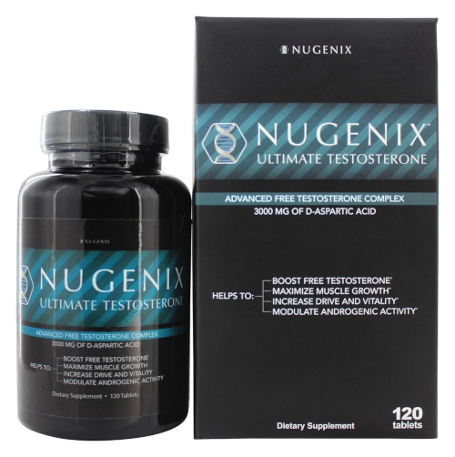 Nugenix Ultimate testosterone box and bottle